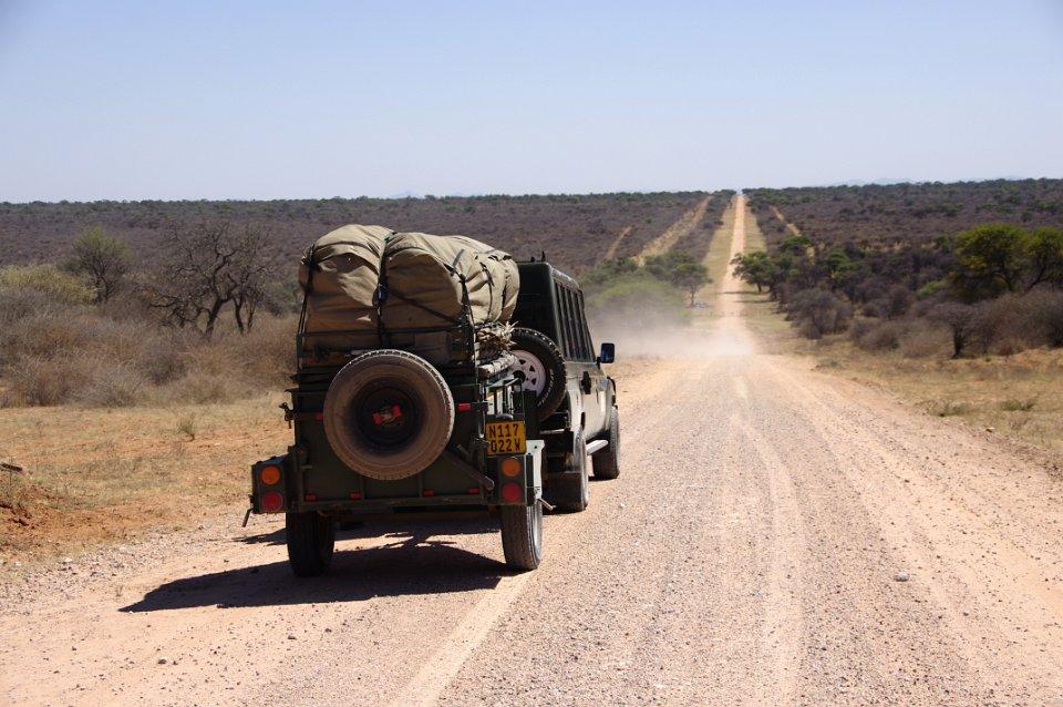 Unterwegs auf einer Piste in Namibia