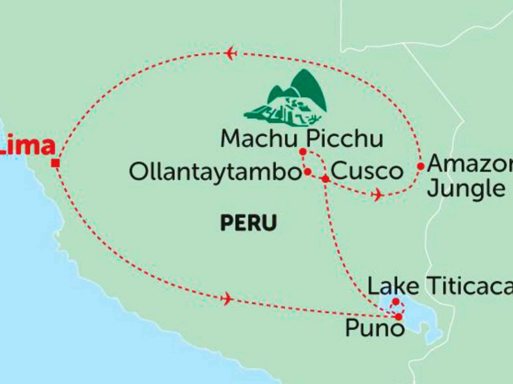 135Y10207 Vom Regenwald zu den Anden Karte