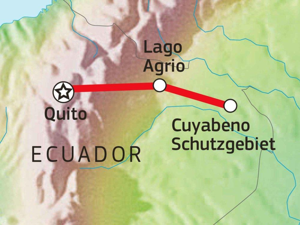 198Y30011 Regenwald Abenteuer Ecuador Karte
