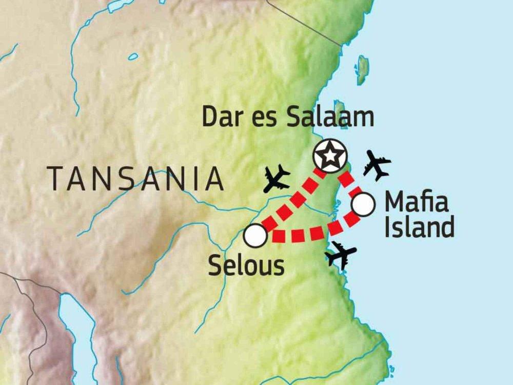 140S10601 True Wilderness & Beach Safari Karte
