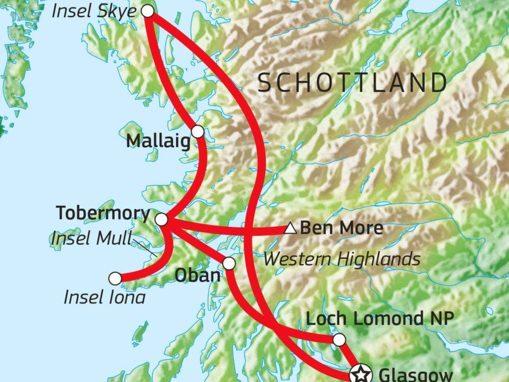 123A10031 Schottlands Inseln & Highlands aktiv entdecken Karte