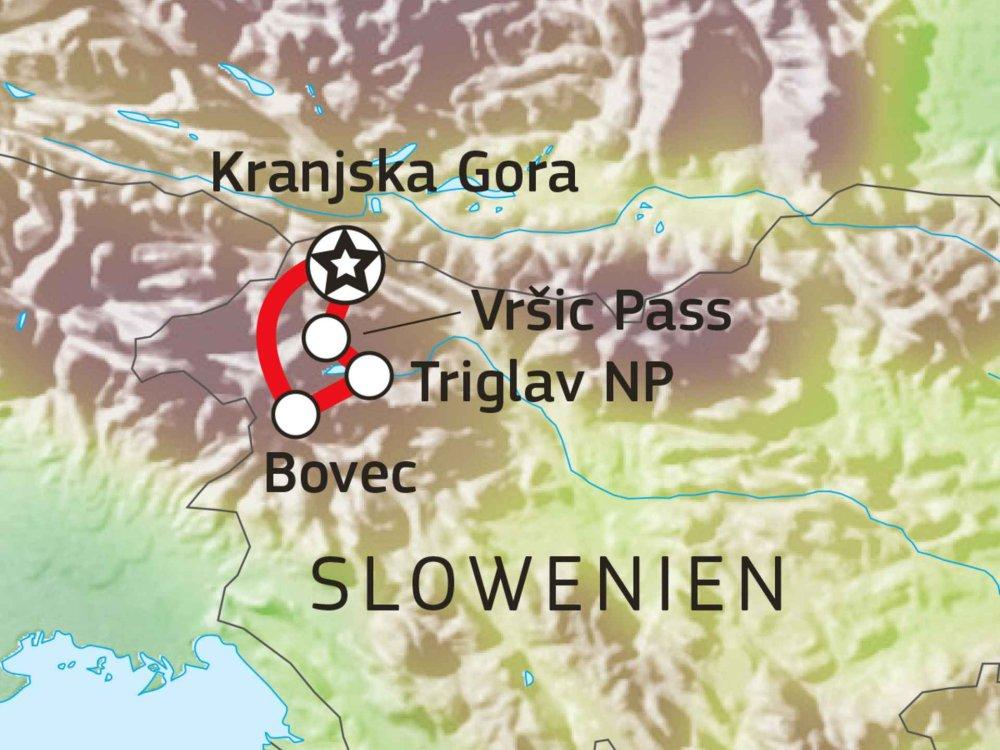 137B70010 Slowenien - Vielfältiges Wanderparadies Karte
