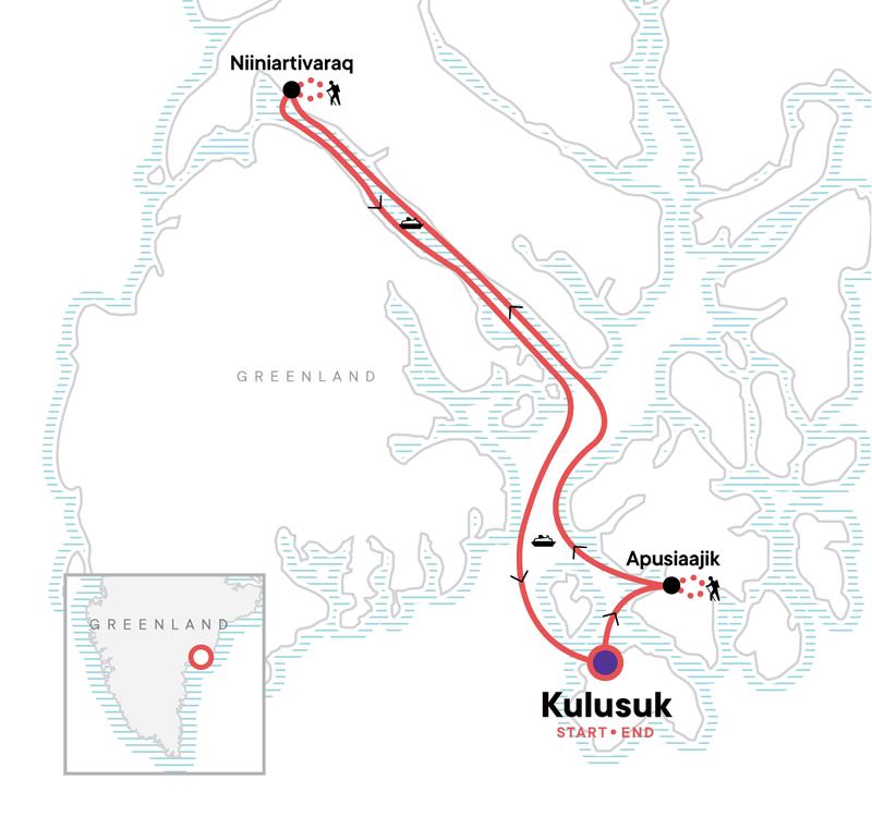 Wandern in Ostgrönland Karte