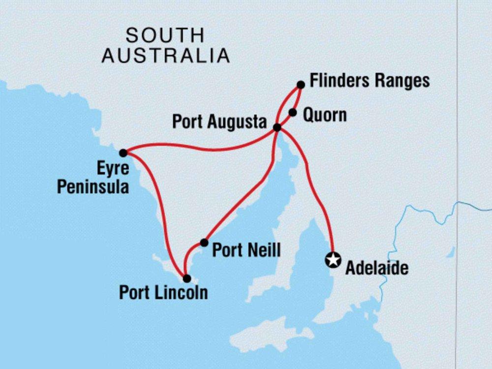 102A10044 Geheimtipp Eyre Peninsula Karte