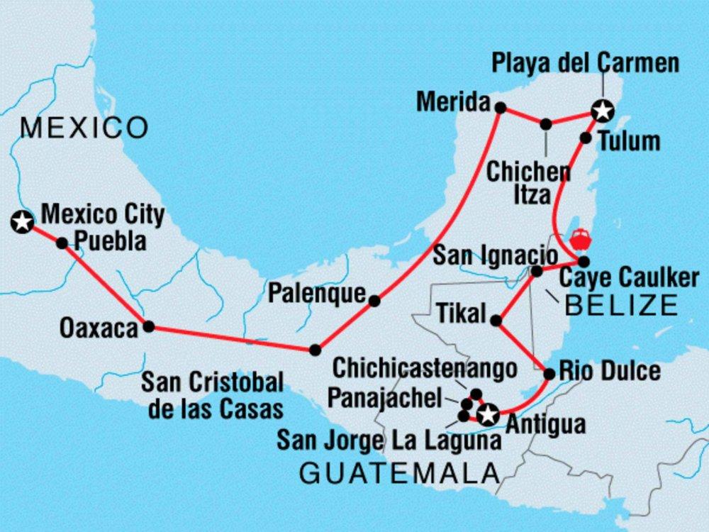 122Y60004 Mittelamerika entdecken Karte