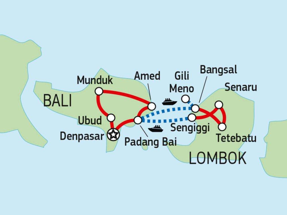 124Y10010 Bali & Lombok Naturerlebnis Karte