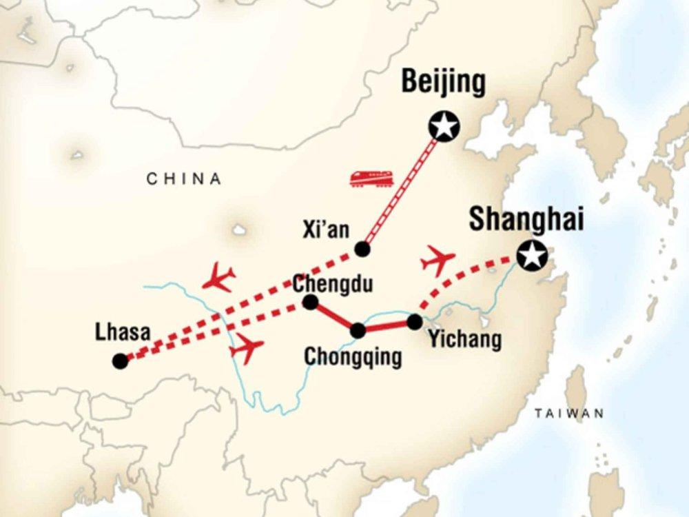 130G35011 China und Tibet Entdeckertour Karte
