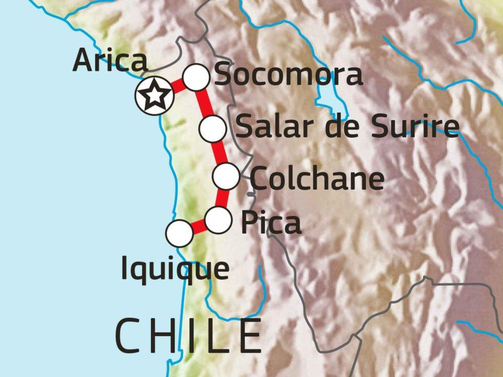 198Y50033 Chiles Norden - Zwischen Wüstenoasen und Salzseen Karte