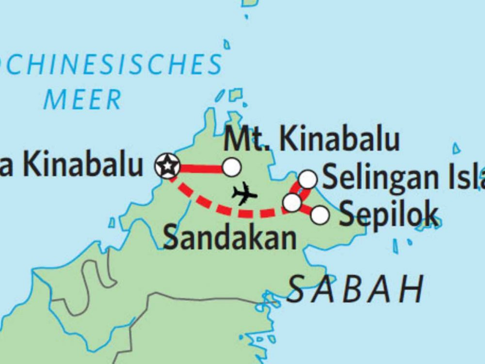 103Y13131 Sabah Wildlife Safari Karte