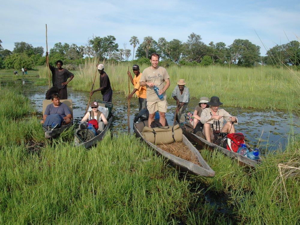 Mokoro Bootsafari im Okavango Delta in Botswana