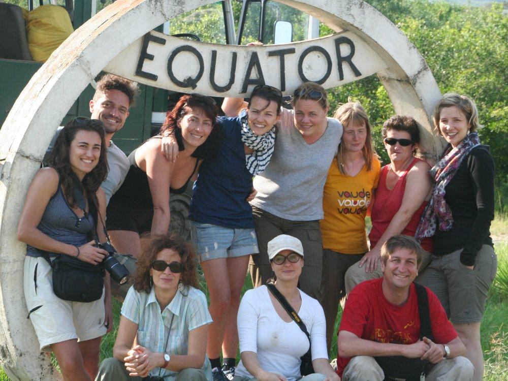 Gruppe am Äquator
