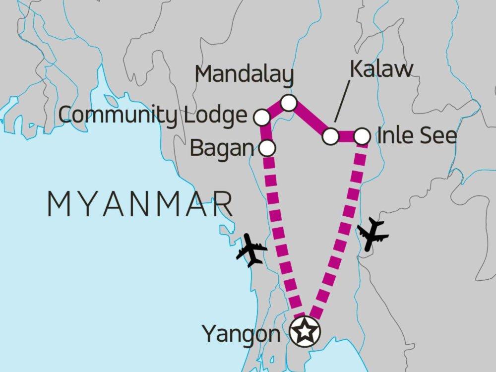 122Y31020 Best of Burma Karte
