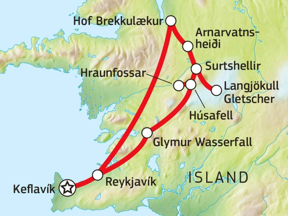 145Y41009 Lava, Höhlen & Heide Karte