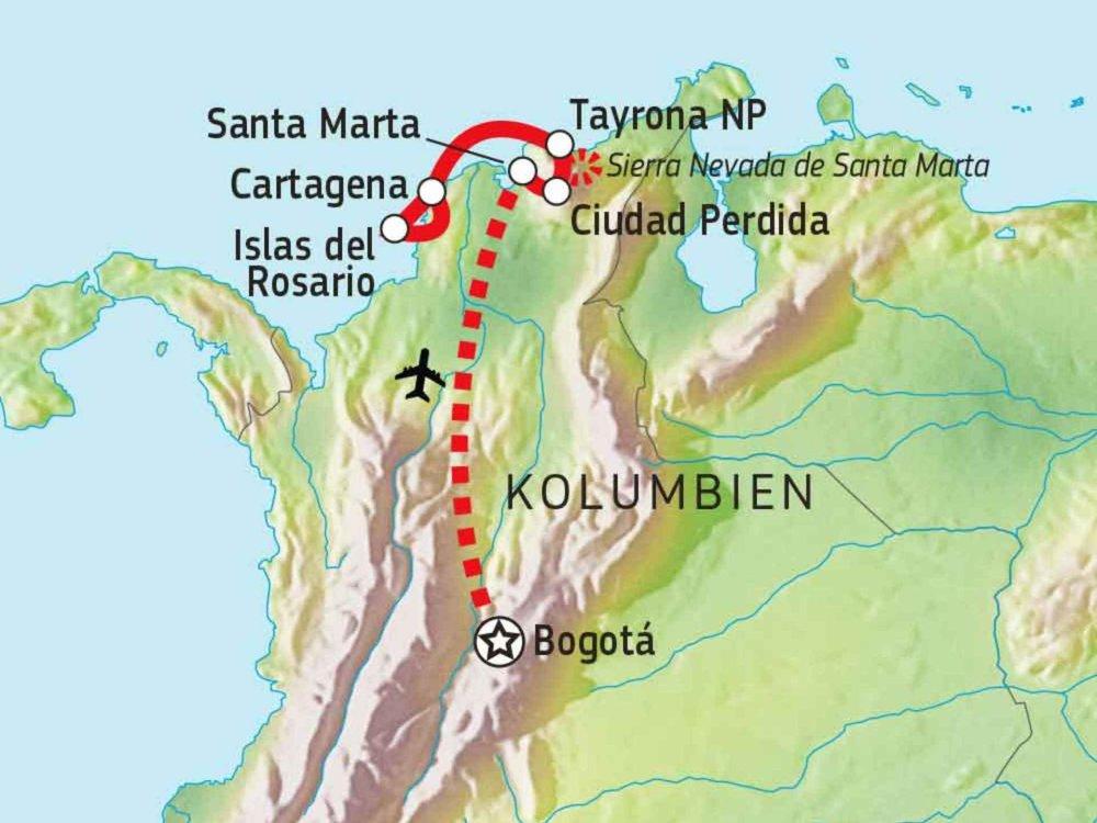 198Y30015 Schätze Nordkolumbiens Karte