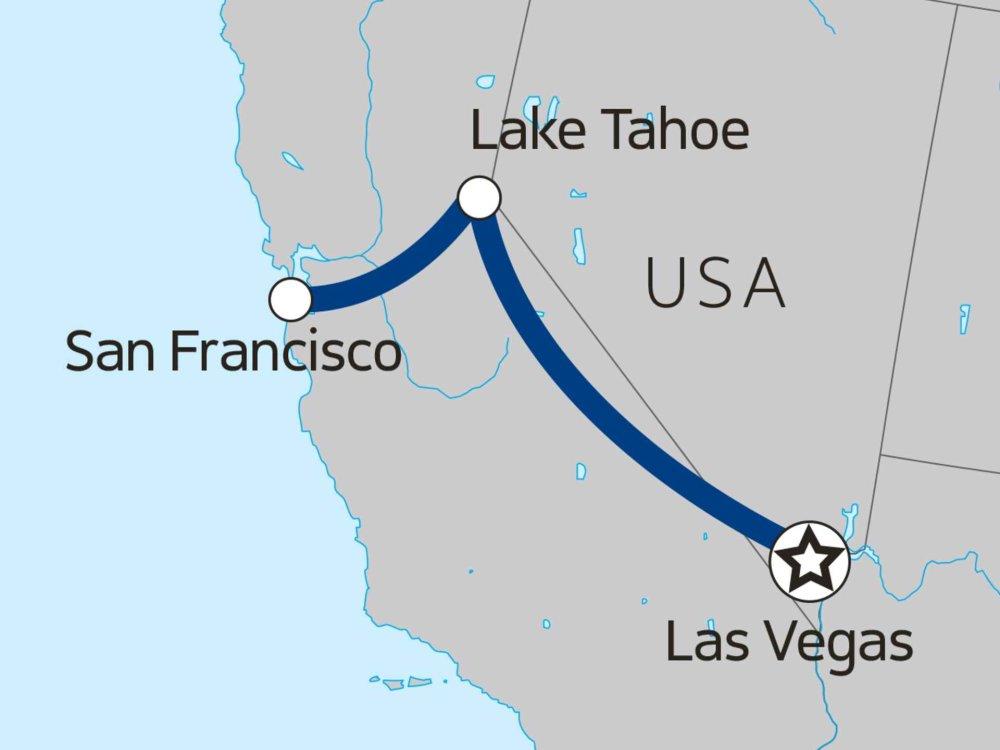174Y10095 Winterabenteuer Kalifornien Karte