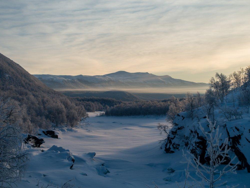 Winterlandschaft im Vindelfjällen