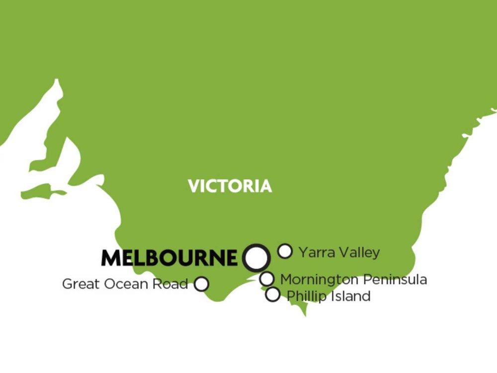 102A10029 Weinregion Yarra Valley Karte