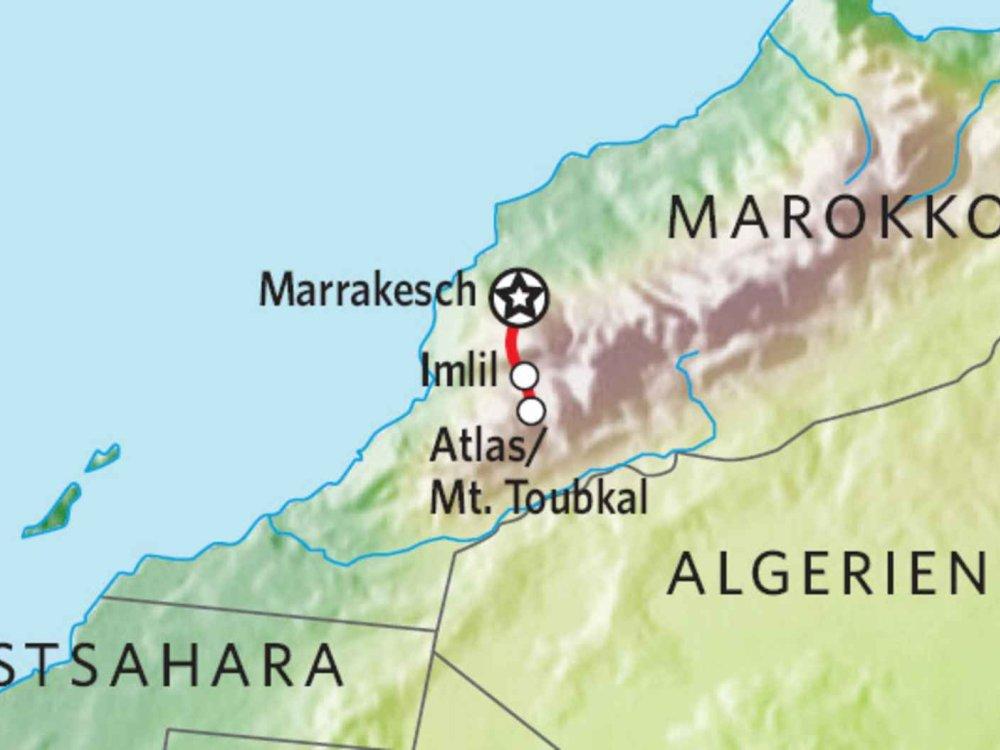172Y51006 Mount Toubkal Besteigung & Berber Dörfer Karte