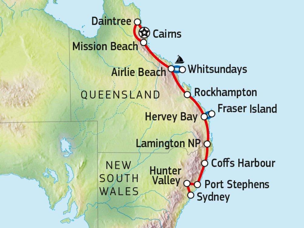 101A10003 Roadtrip an Australiens Ostküste Karte