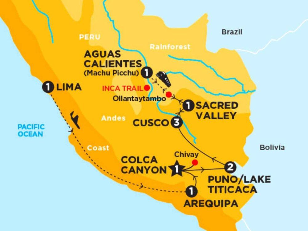 174Y20013 Inca Panorama Karte