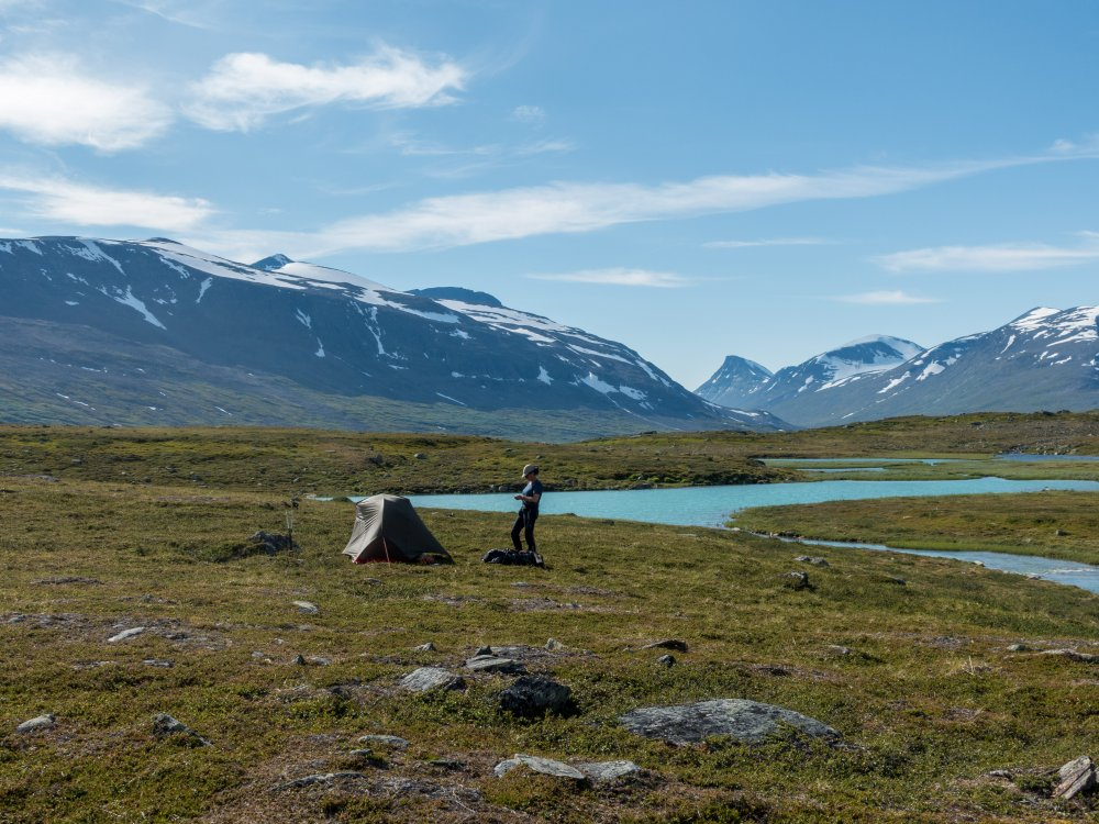Sarek Nationalpark Wandern mit Zelt