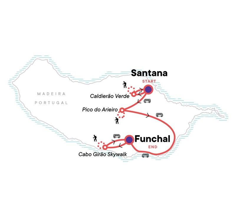Madeira aktiv Karte