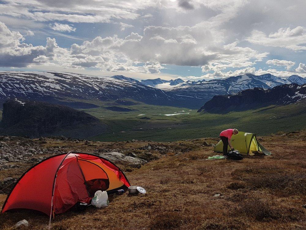 Zelt beim Camping am Kungsleden