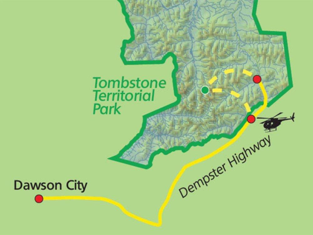 187Y31010 Tombstone Mountain - Patagonien des Yukon Karte
