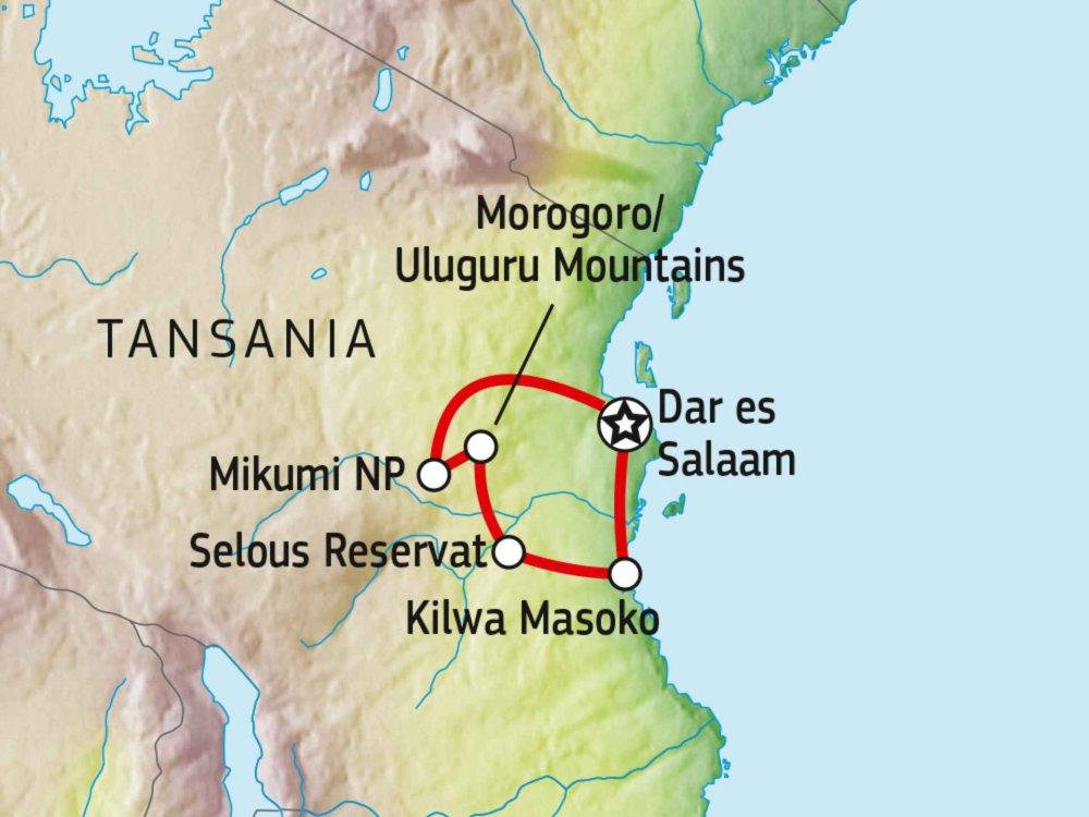 140R21002 Unbekanntes Südtansania & Kilwa Karte