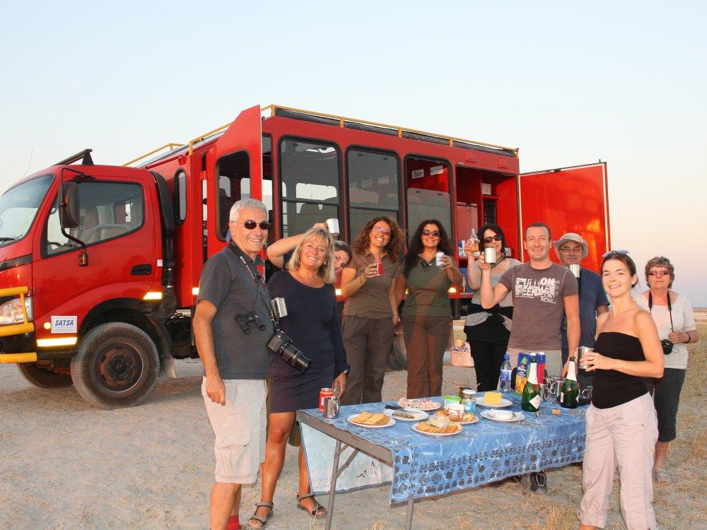 Mittagspause in den Makgadikgadi Pans