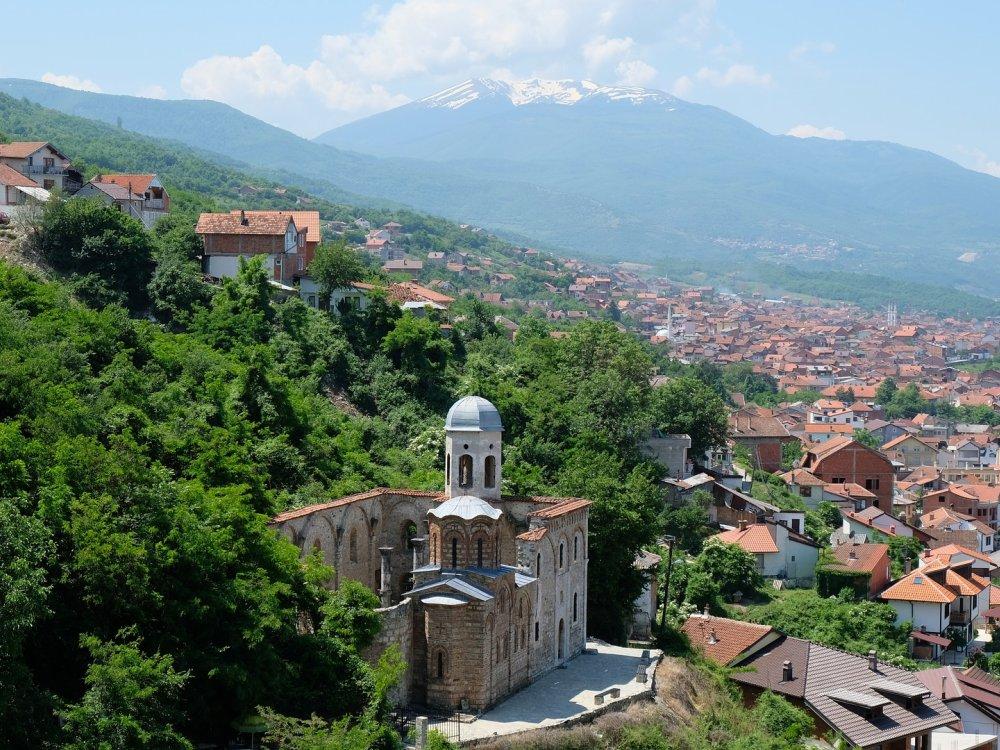 Ausblick auf die Stadt Prizren
