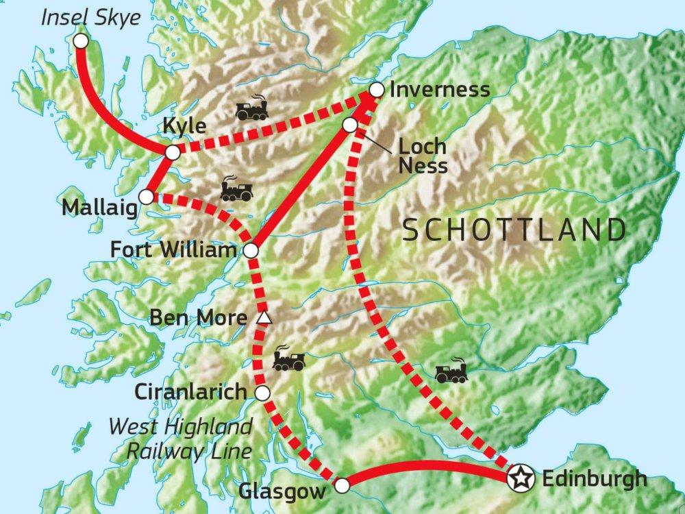 123A10032 Wandererlebnis Schottland mit der Bahn Karte