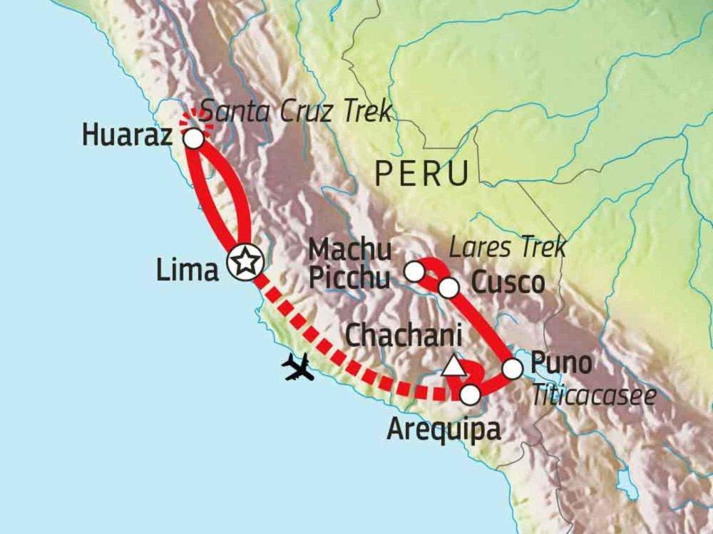 188P00011 Peru Trekking Total - Wandern, Bergsteigen & Kultur Karte