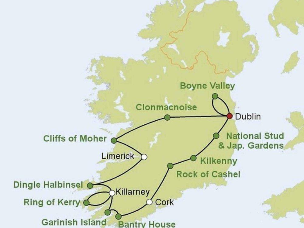 Irland Cliffs Of Moher Karte.Reizvolles Irland Moja Travel