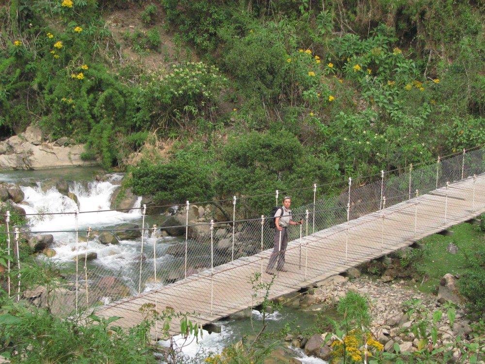 Brücke auf dem Salkantay Trek