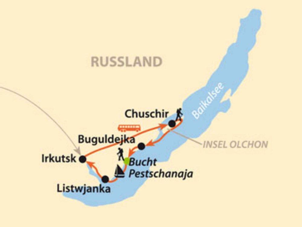 145Y41007 Trekking am Baikalsee Karte