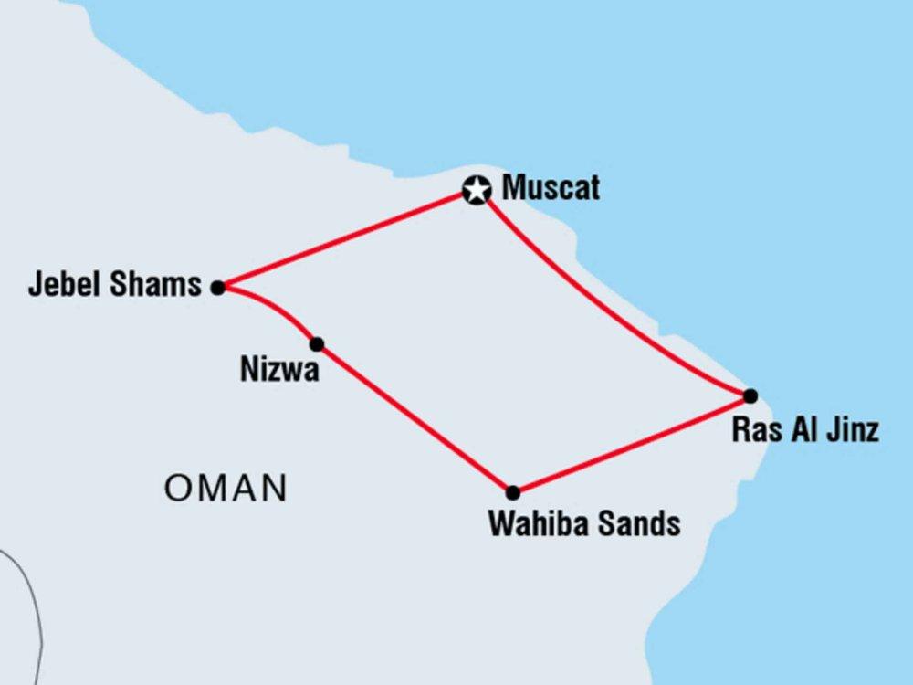 122Y40220 Oman - Abenteuer in der Wüste Karte