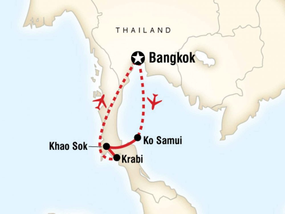 130G35016 Entdecke Südthailand Karte