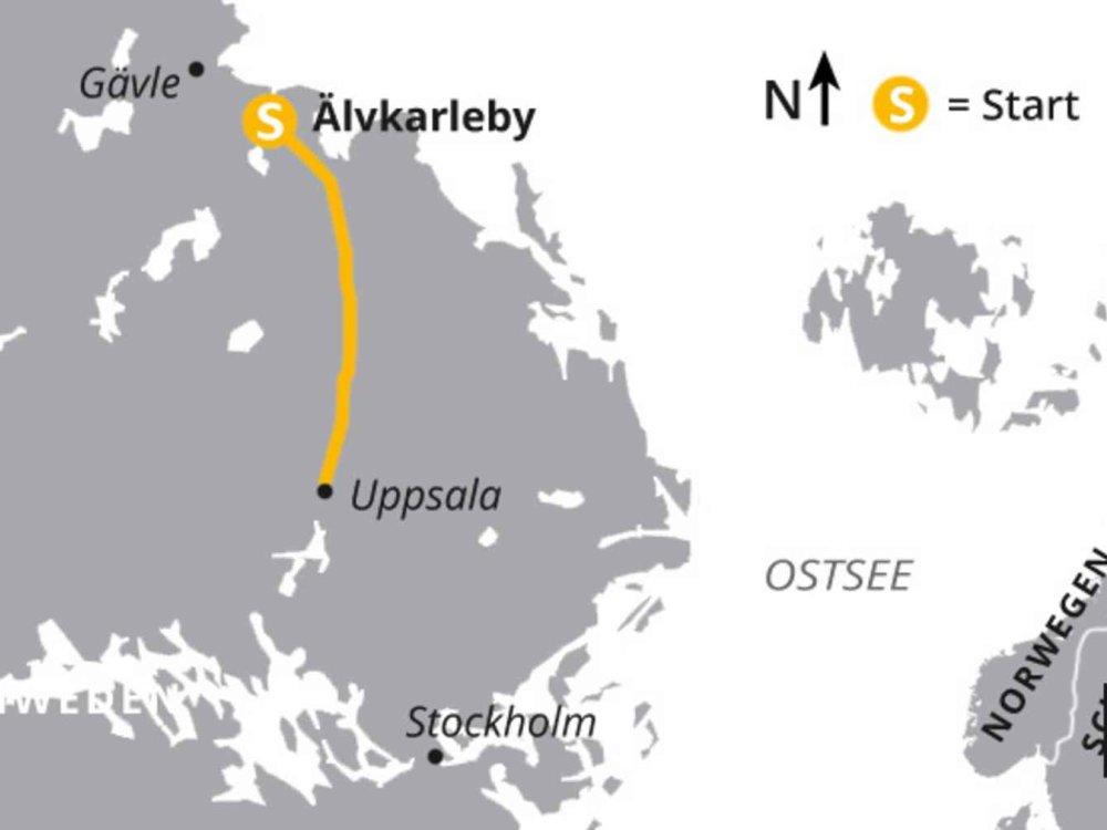123H10039 Aktivurlaub in Mittelschweden Karte