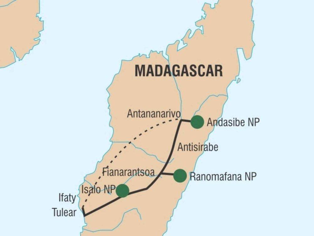 181Y10015 Eindrucksvolles Madagaskar Karte
