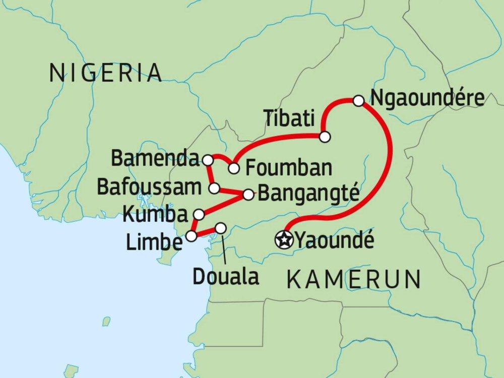 167T31001 Kamerun Entdeckertour Karte