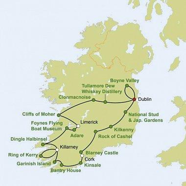 182C09571 Reizvolles Irland Karte