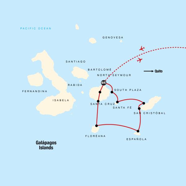Galapagos Kreuzfahrt – Südliche und östliche Inseln an Bord der Eden