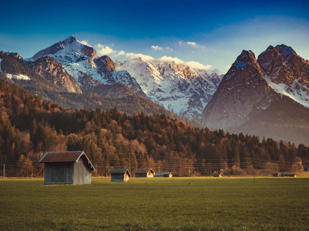 Massiv der Zugspitze bei Garmisch