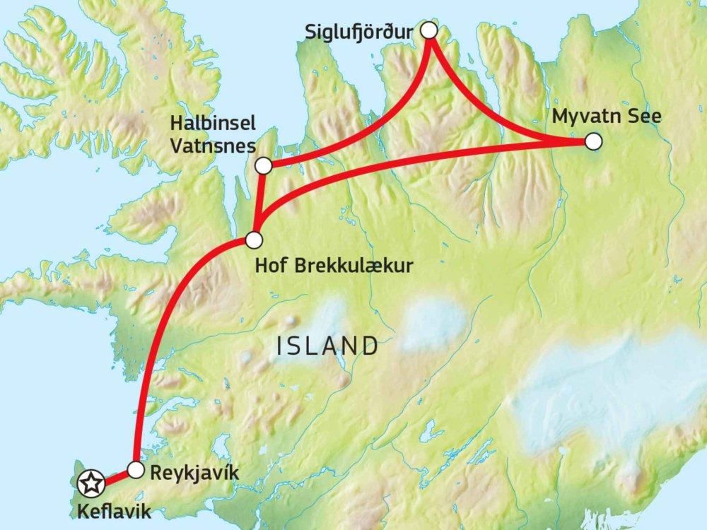 145Y21007 Island - Schafe, Herbstluft & Seehunde Karte