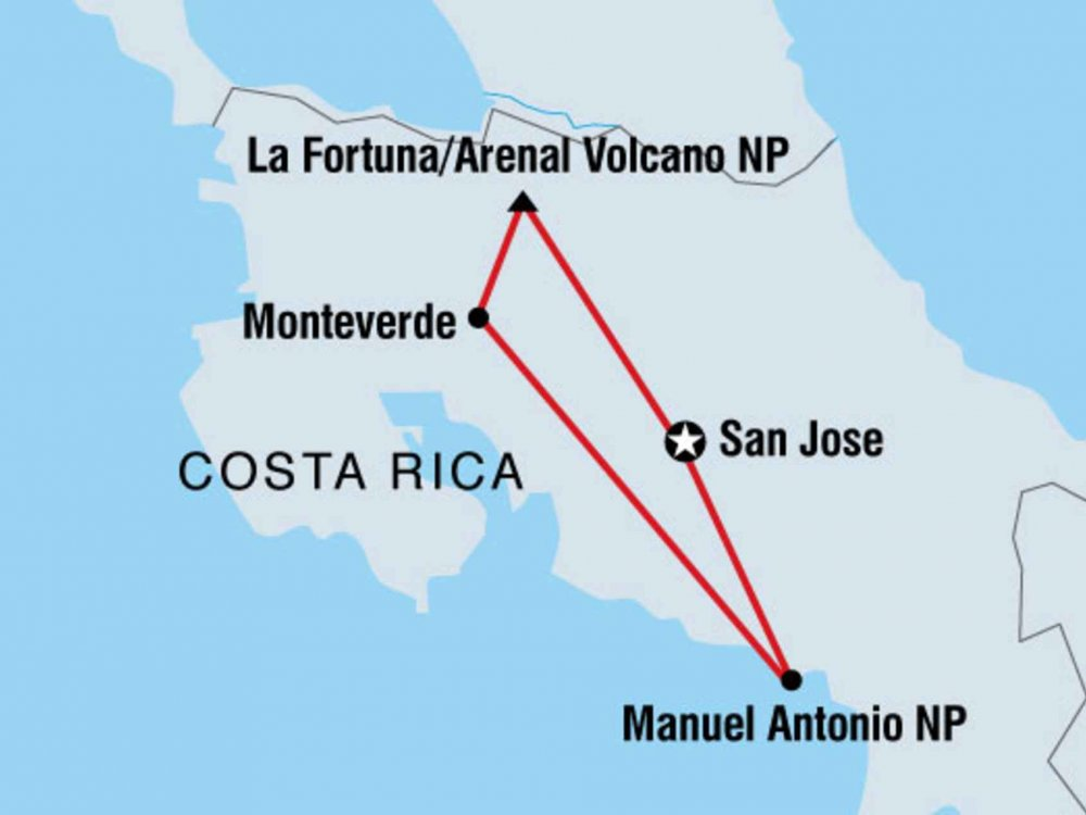 122Y60098 Naturparadies Costa Rica Karte