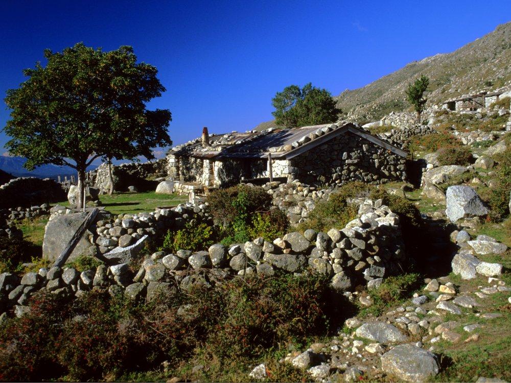 Korsika GR20 Südteil Berghütte
