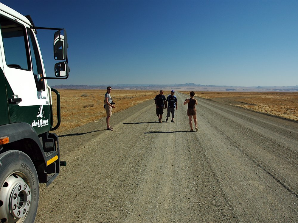 On the road in Namibia