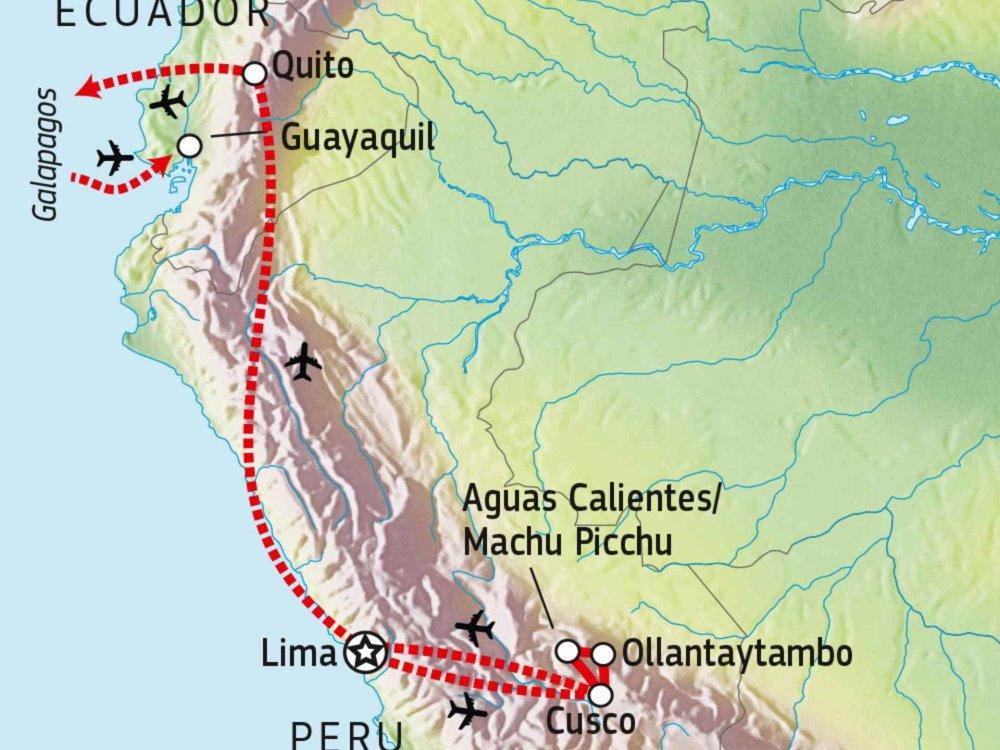 188P00020 Peru & Galapagos: Inka- und Inselwelten Karte