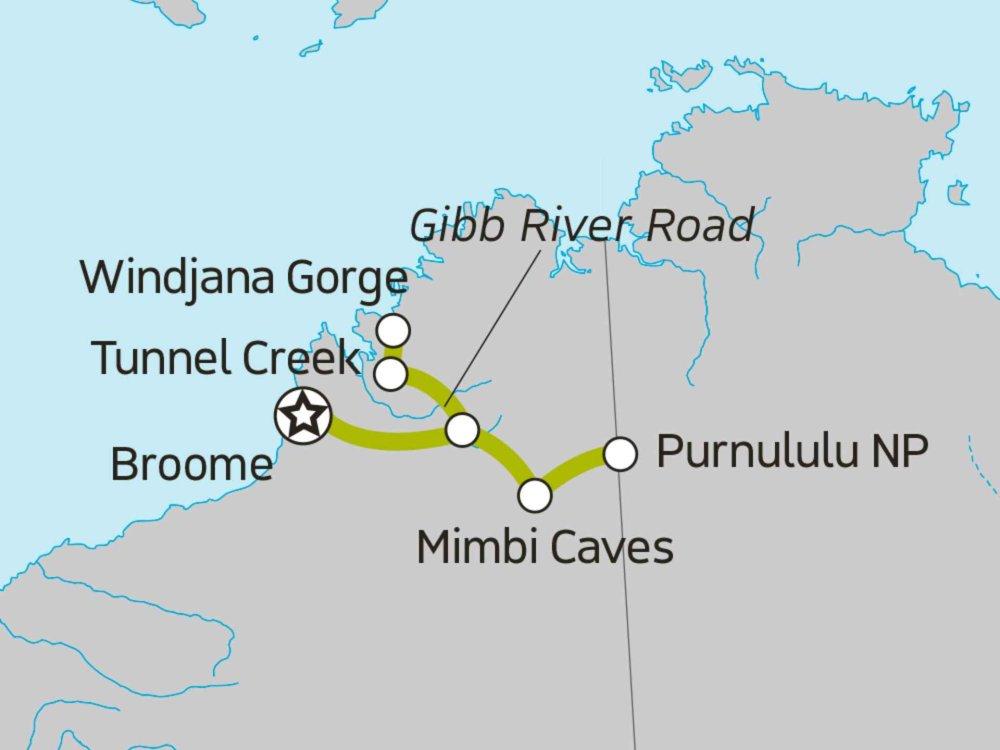 104Y20055 Bungle Bungles Explorer Karte